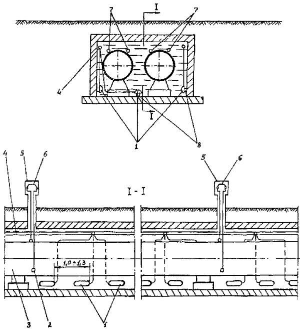 Схема расположения протекторов