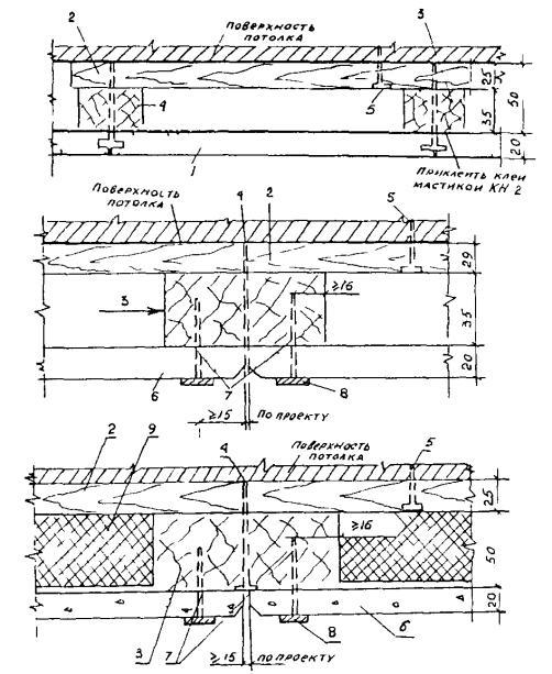 Конструктивные схемы подвесных