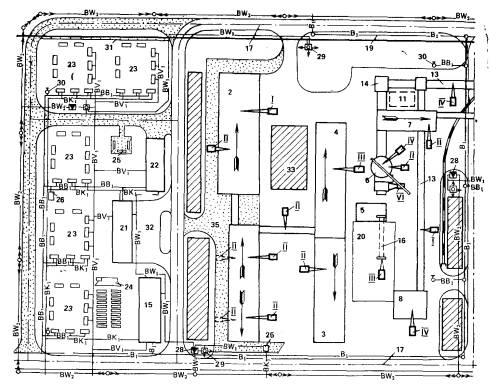 Схема стройгенплана основного