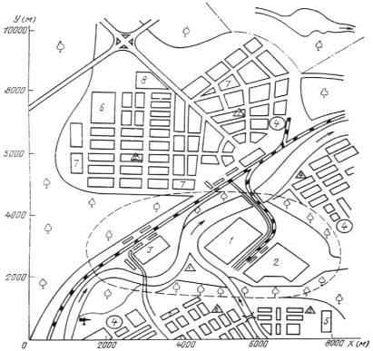 Типовая карта-схема города