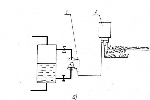 а - схема установки реле