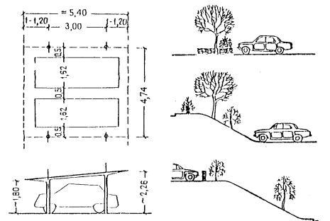 Схема автостоянок с