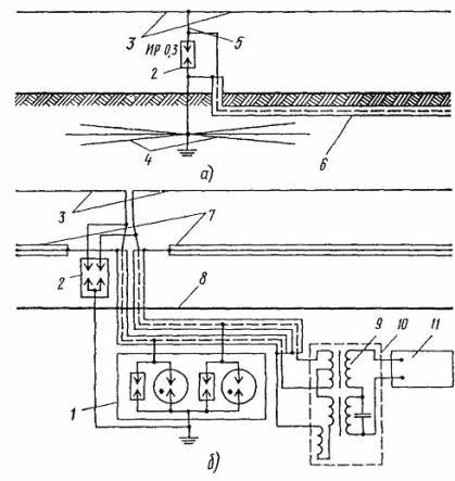 Электрическая схема Т-образной