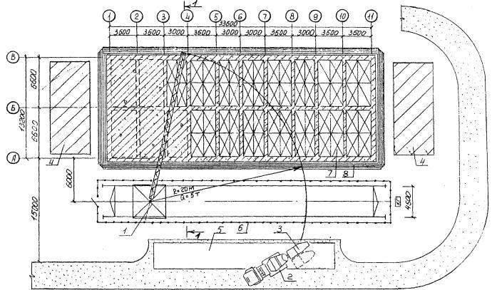 1 - кран башенный КБ-100.0А;