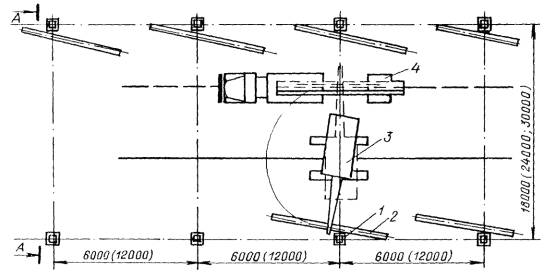 Схема движения крана и