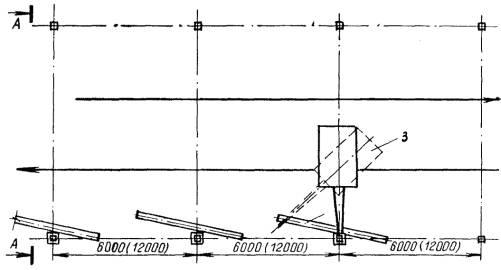 Схема установки колонн
