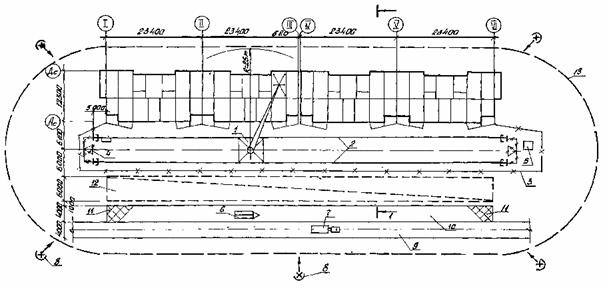1 - башенный кран КБ-405.1А;