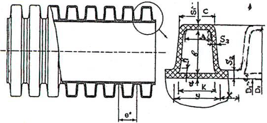 Схема полиэтиленовой трубы с