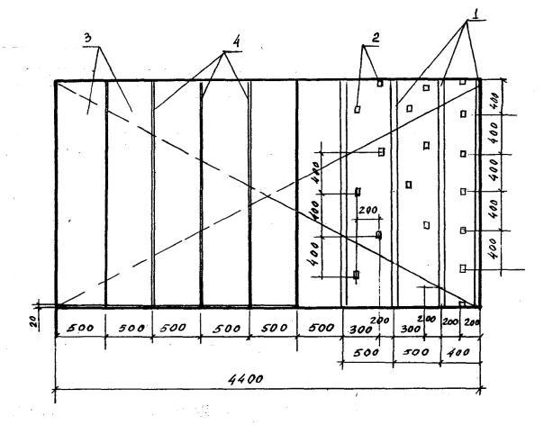 Схема провешивания стен