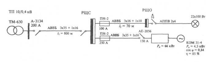 Пример схемы показан на рис.