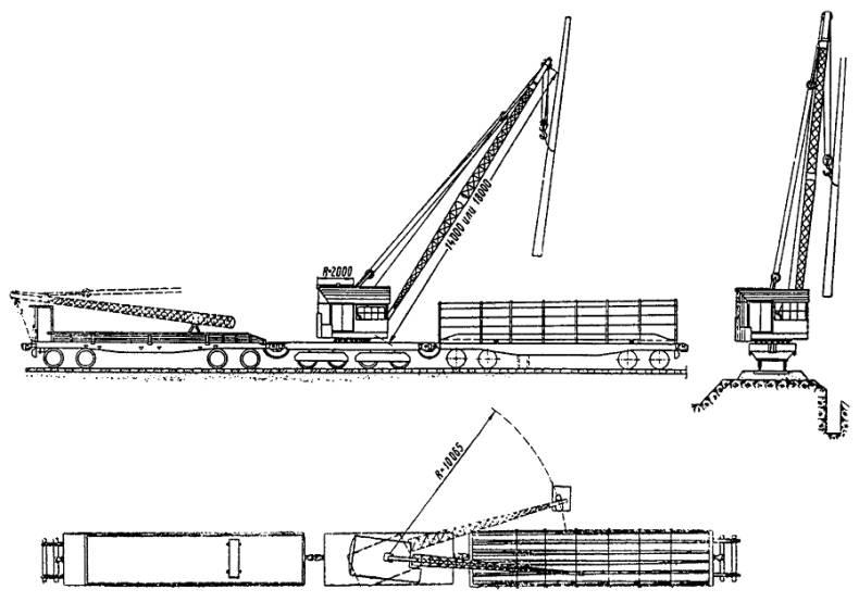 Схема установки железобетонной