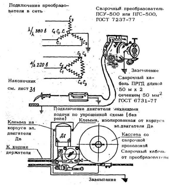 Схемы внешних соединений