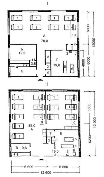 I - планировочная схема жилых