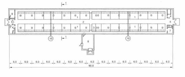 Рисунок Б.6- План свинарника