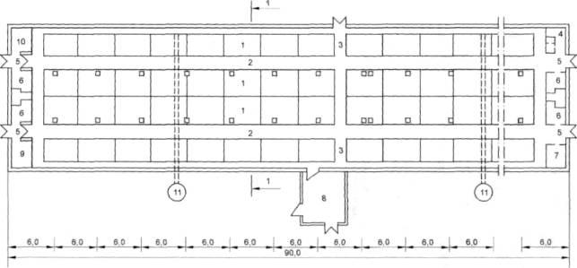 Рисунок Б.18 - План свинарника
