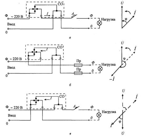 Схемы включения и векторные