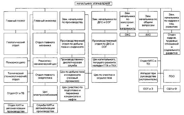 Типовые организационные структуры управления ГДП.