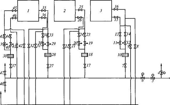 Технологические схемы газопроводов ВНС, АГВН,котельной и топочного устройства аэроклассификатора.