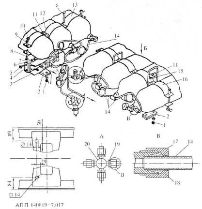 Схема установки передней