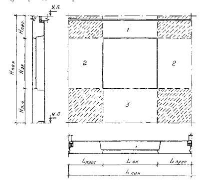 Однослойные панели с оконным