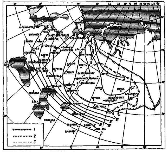 Карта-схема с изолиниями для