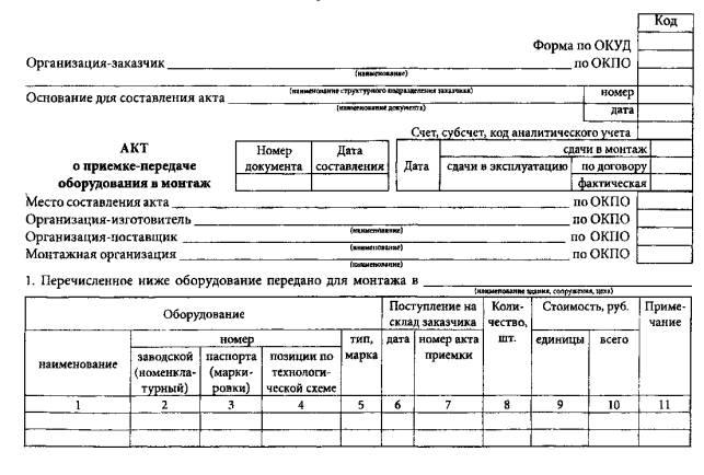 Унифицированная Форма Ос-15 Скачать Бланк - фото 3