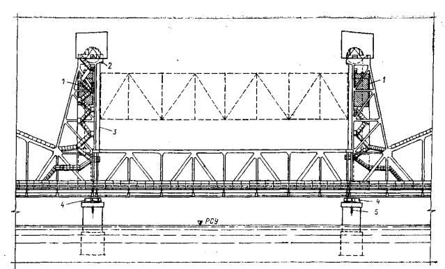 Вертикально-подъемный мост: