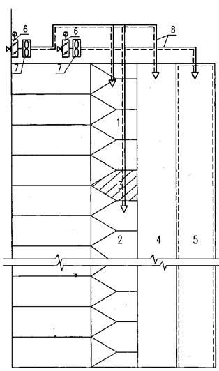 1 - верхняя зона лестничной