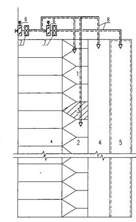 4 - шахта лифта ; 5