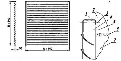 Схема решетки РКДМ для «