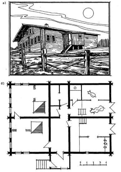 Объемно-планировочные и конструктивные решения сельского жилого дома