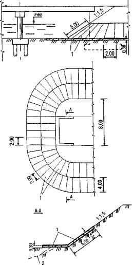 Схема габионного укрепления