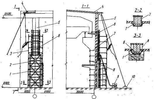 Схема усиления колонны