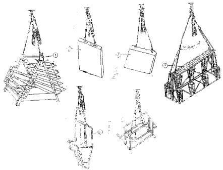 Схема строповки лестничного