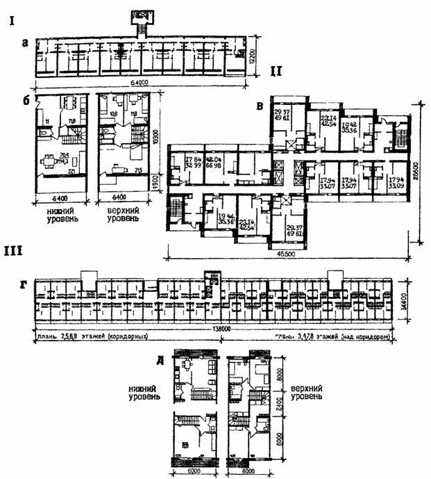 квартиры в полууровнях со