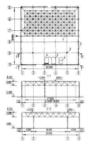 Схема здания (модуля):