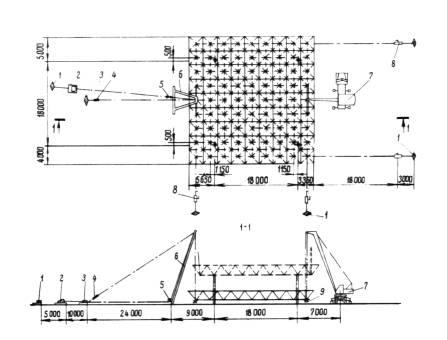 Схема подьема и установки
