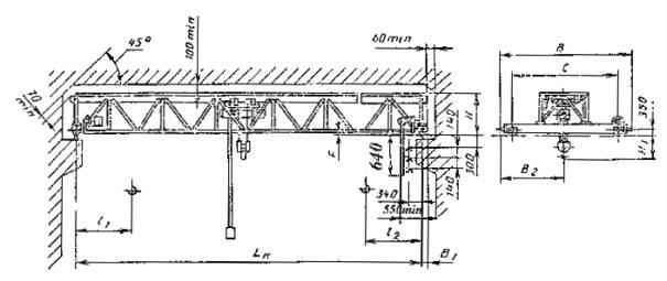 Краны мостовые электрические однобалочные опорные типы основные параметры