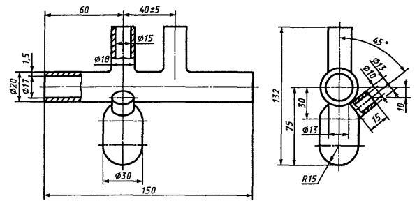 Рисунок Б.1 - Схема резервуара