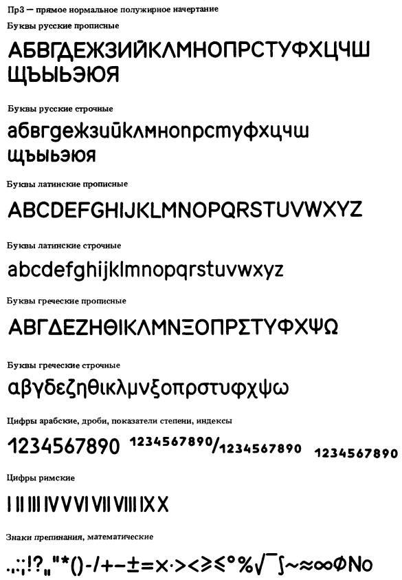 Гост 26 020 80 шрифты для средств