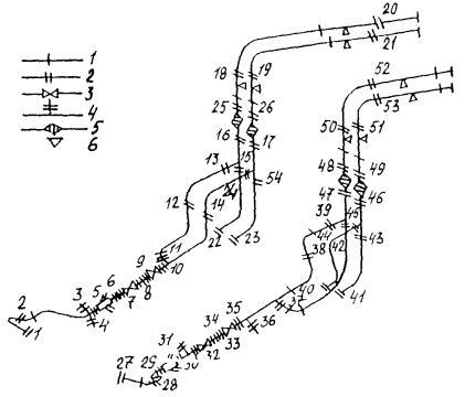 635. Язык.  605 Мб.  Исполнительная схема трубопроводов (пример выполнения); Приложение 8. Протокол замеров.