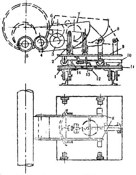 Схема валкового механизма для